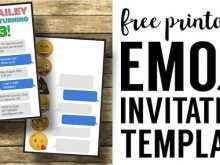 22 Standard Birthday Invitation Template Emoji Now by Birthday Invitation Template Emoji