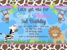 22 The Best Jungle Birthday Invitation Template Free PSD File with Jungle Birthday Invitation Template Free