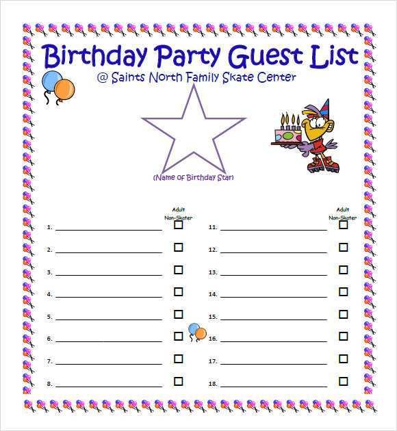 22 The Best Party Invitation List Template PSD File by Party Invitation List Template