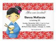 22 Visiting Japanese Party Invitation Template With Stunning Design for Japanese Party Invitation Template