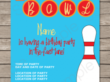 22 Visiting Party Invite Template Bowling in Word with Party Invite Template Bowling