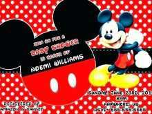 Mickey Mouse Invitation Card Blank Template