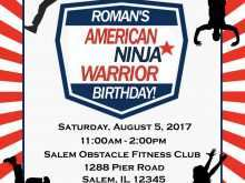 American Ninja Warrior Birthday Invitation Template