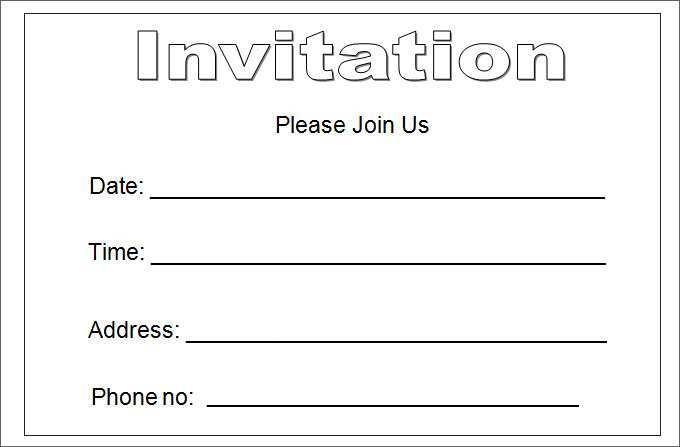 23 Customize 5X7 Blank Invitation Template Free Layouts for 5X7 Blank Invitation Template Free
