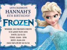 23 Free Printable Elsa Party Invitation Template Maker by Elsa Party Invitation Template