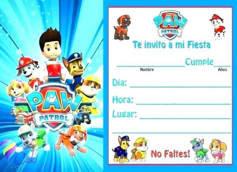 23 How To Create Paw Patrol Party Invitation Template Maker with Paw Patrol Party Invitation Template