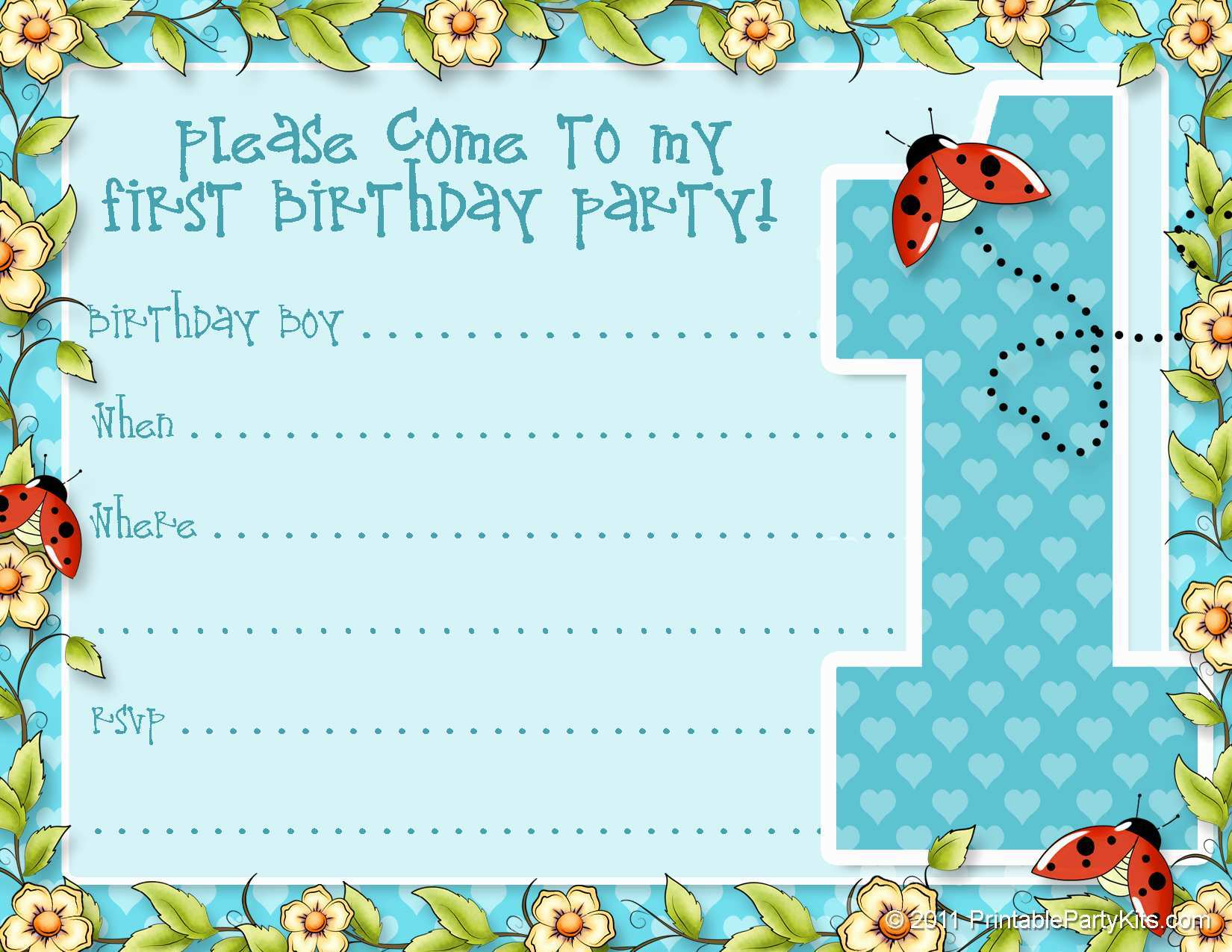 5 Report 5 Year Old Boy Birthday Party Invitation Template