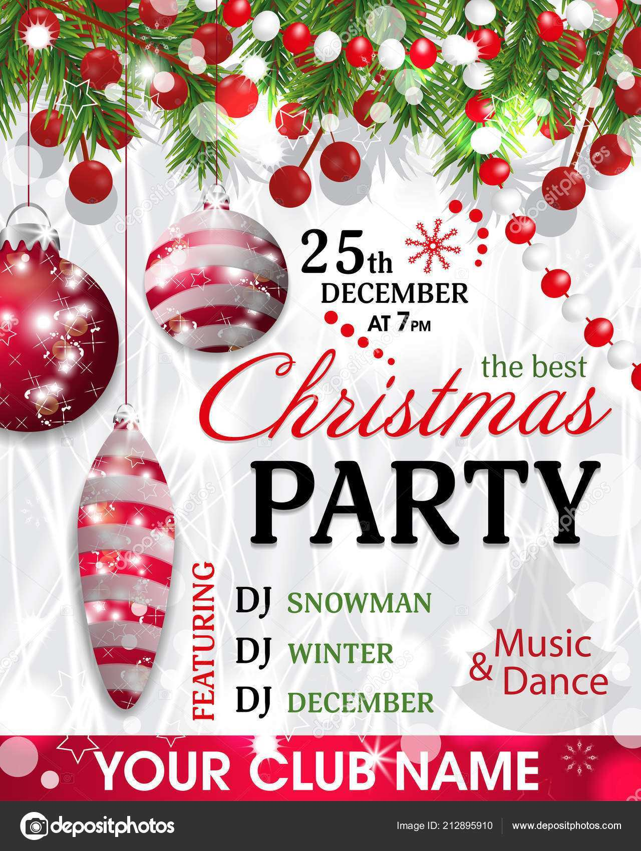 23 Report Christmas Party Invitation Template Templates by Christmas Party Invitation Template