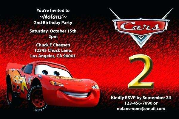 23 The Best Cars Birthday Invitation Template Free Download With Stunning Design for Cars Birthday Invitation Template Free Download