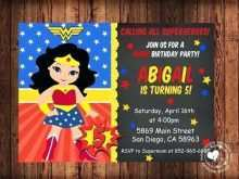 Wonder Woman Birthday Invitation Template