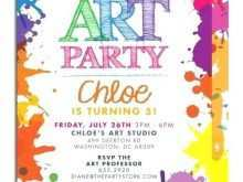 24 Adding Art Party Invitation Template Photo by Art Party Invitation Template