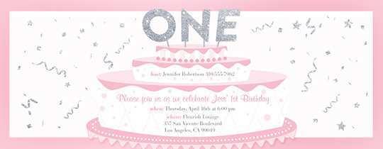 24 Blank Birthday Invitation Template For Baby Girl for Ms Word with Birthday Invitation Template For Baby Girl