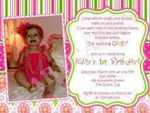 24 Create Birthday Invitation Template For Baby Girl Photo with Birthday Invitation Template For Baby Girl