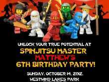 24 Create Ninjago Party Invitation Template Templates with Ninjago Party Invitation Template