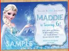 Frozen Invitation Blank Template