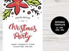 24 Format Christmas Party Invitation Template Templates for Christmas Party Invitation Template
