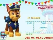 24 Free Printable Paw Patrol Party Invitation Template Templates for Paw Patrol Party Invitation Template