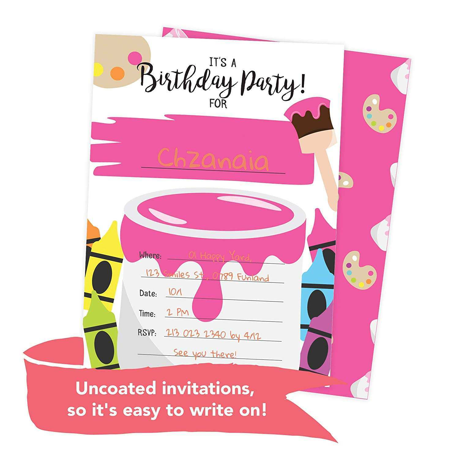 24 The Best Art Party Invitation Template Free Maker with Art Party Invitation Template Free