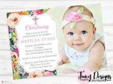 24 The Best Christening Invitation For Baby Girl Blank Template PSD File for Christening Invitation For Baby Girl Blank Template