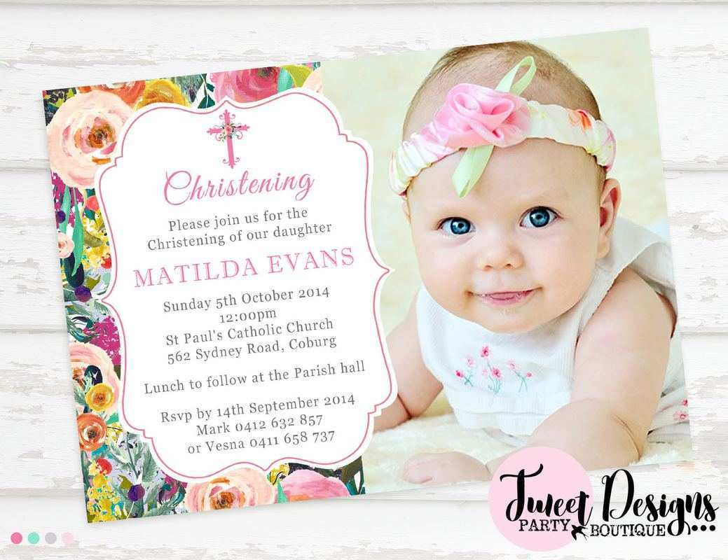 24 The Best Christening Invitation For Baby Girl Blank Template PSD File  for Christening Invitation For Baby Girl Blank Template - Cards Design  Templates