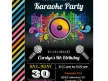 24 The Best Karaoke Party Invitation Template Formating by Karaoke Party Invitation Template