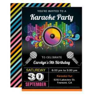 24 The Best Karaoke Party Invitation Template Formating by Karaoke Party Invitation Template