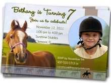 25 Adding Horse Birthday Invitation Template With Stunning Design for Horse Birthday Invitation Template