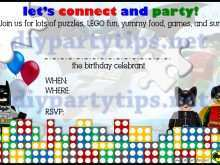 25 Adding Lego Party Invitation Template Free in Word with Lego Party Invitation Template Free