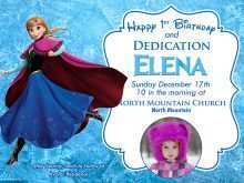 25 Creating Elsa Party Invitation Template in Photoshop by Elsa Party Invitation Template