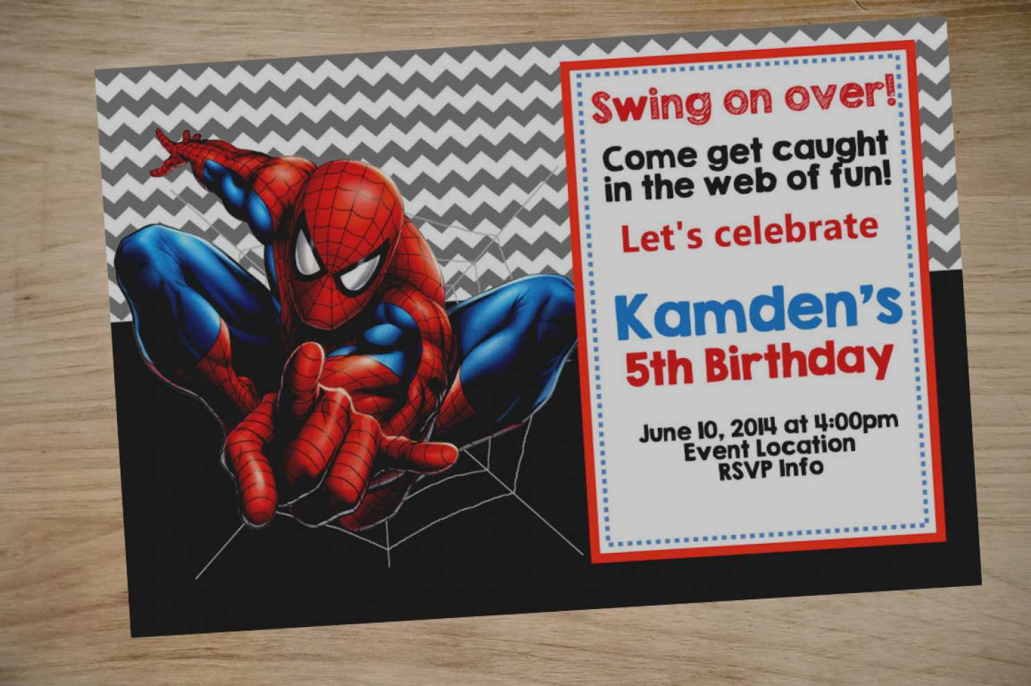25 Creating Spiderman Party Invitation Template Free Now by Spiderman Party Invitation Template Free