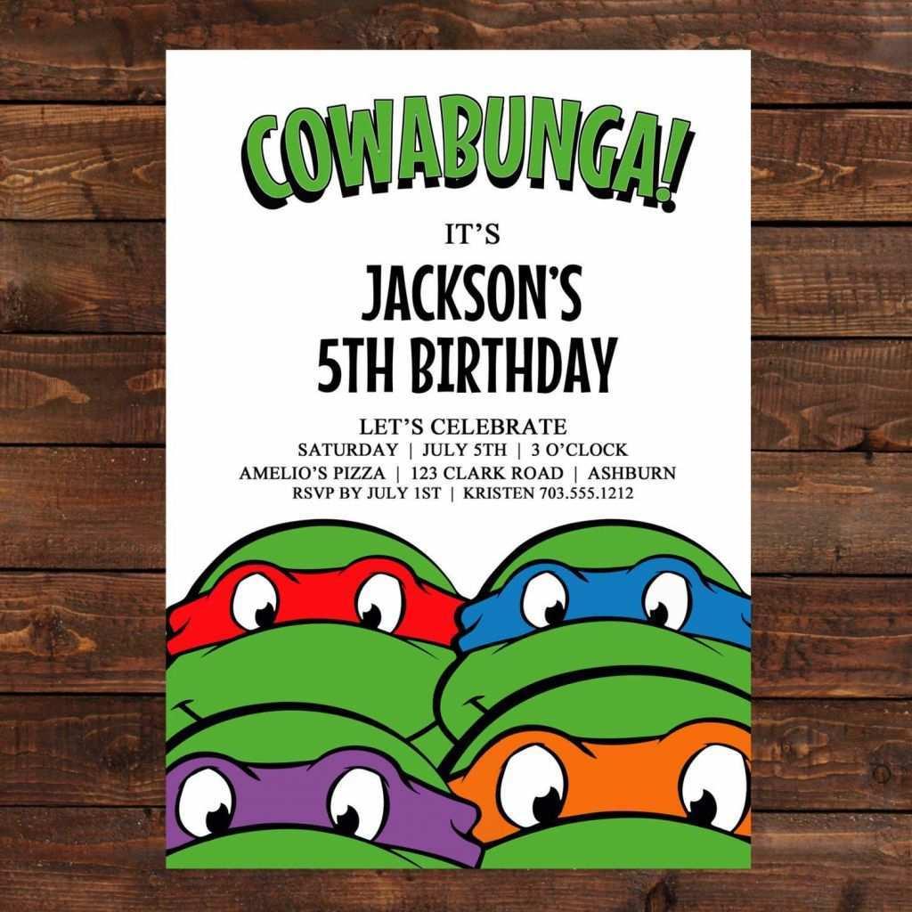 25 Creative Ninja Turtle Birthday Invitation Template in Word by Ninja Turtle Birthday Invitation Template
