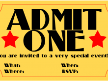 25 Customize Birthday Invitation Ticket Template Free for Ms Word for Birthday Invitation Ticket Template Free