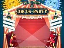 25 Customize Circus Birthday Invitation Template Free for Ms Word for Circus Birthday Invitation Template Free
