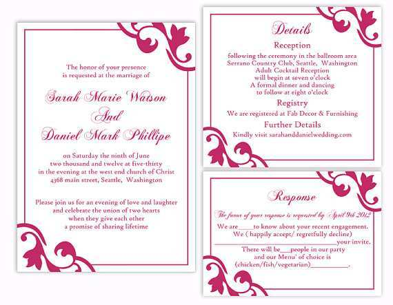 25 Customize Our Free Wedding Invitation Template In Word for Ms Word by Wedding Invitation Template In Word