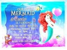 25 Free Printable Little Mermaid Blank Invitation Template PSD File by Little Mermaid Blank Invitation Template