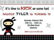 25 How To Create Ninja Birthday Party Invitation Template Free Layouts by Ninja Birthday Party Invitation Template Free