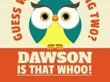 25 Printable Owl Birthday Invitation Template Photo for Owl Birthday Invitation Template