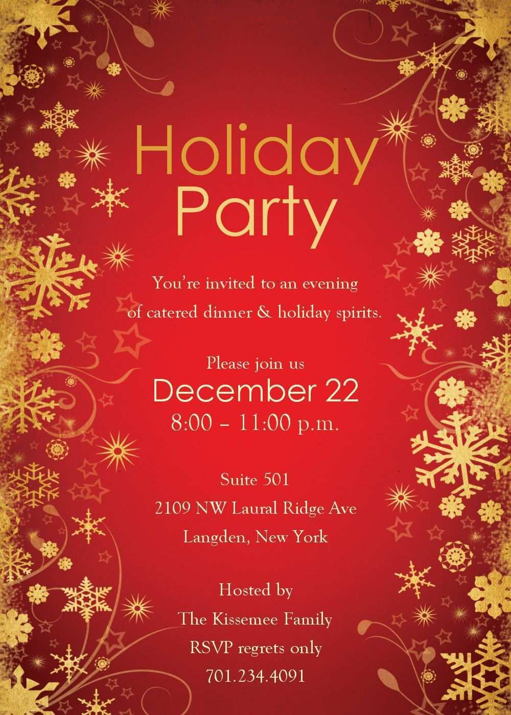 25 Standard Holiday Party Invitation Template Maker by Holiday Party Invitation Template