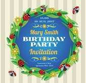 Birthday Invitation Templates Corel