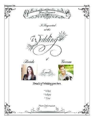 25 The Best Wedding Invitation Newspaper Template Now by Wedding Invitation Newspaper Template