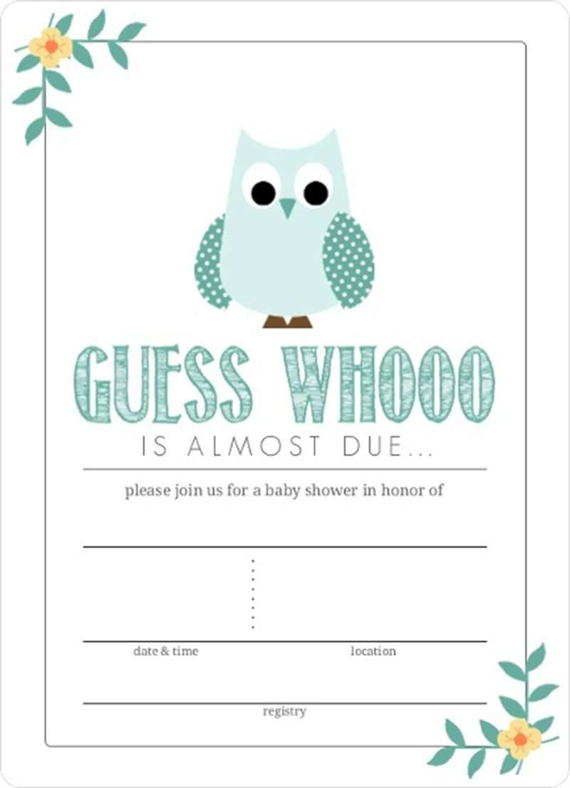 25 Visiting Blank Baby Shower Invitation Template in Word by Blank Baby Shower Invitation Template
