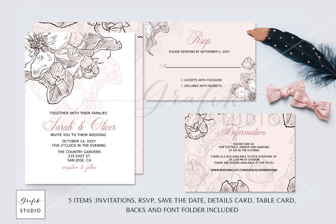 25 Visiting Blush Pink Wedding Invitation Template Download for Blush Pink Wedding Invitation Template