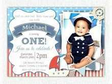 Nautical Birthday Invitation Template