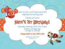 Nemo Birthday Invitation Template