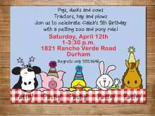 26 Create Zoo Birthday Party Invitation Template in Photoshop with Zoo Birthday Party Invitation Template