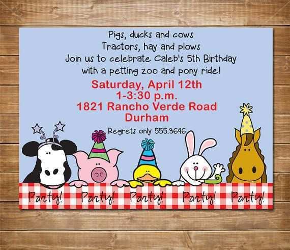 26 Create Zoo Birthday Party Invitation Template in Photoshop with Zoo Birthday Party Invitation Template