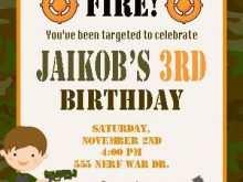 Nerf War Birthday Invitation Template