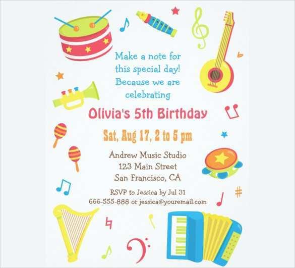 26 Report Kiddie Birthday Invitation Template Templates with Kiddie Birthday Invitation Template