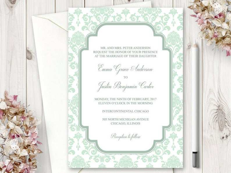 26 Report Mint Green Wedding Invitation Template in Word with Mint Green Wedding Invitation Template