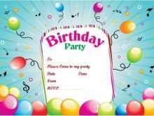 26 Standard Birthday Party Invitation Template in Word for Birthday Party Invitation Template